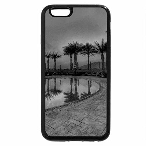 iPhone 6S Plus Case, iPhone 6 Plus Case (Black & White) - PALM RESORT at DUSK