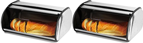 stainless steel 2 loaf bread box - 5