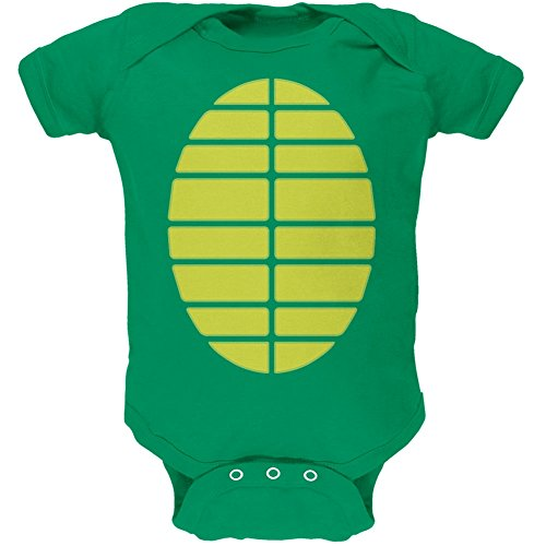 Halloween Turtle Costume Kelly Green Soft Baby One Piece - 6 month -