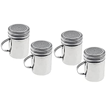 ChefLand Stainless Steel Dredge, 10-Ounce, Set of 4