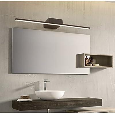 Mirror Headlight Mirror Light Simple LED Coffee Wall Lamp Dresser Flat Tube Light Waterproof Bathroom Cabinet Light White Makeup Lamp Bathroom Lamp Vanity Lights