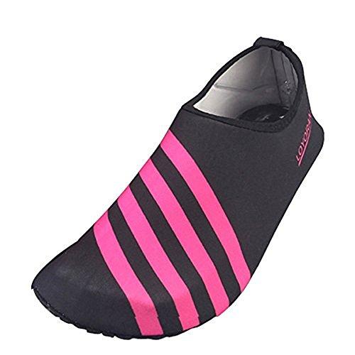 Aqua Water Sports Socken Haut Schuhe für Strand Fitness Yoga Scuba Lauf Gym Rot schwarz