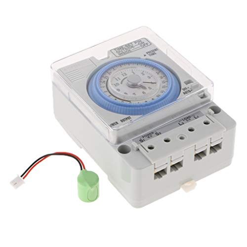 B Blesiya Din Rail Mounted 24Hrs Chronometry Timer Mechanical Switch Industrial Analogue Timer - Timer Din