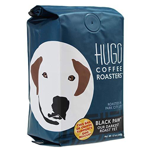 (HUGO COFFEE ROASTERS Black Paw Dark Roast Coffee, 12 OZ)