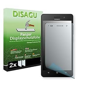 2 x DISAGU Lámina blindada para pantallas Huawei G Play Mini contra roturas