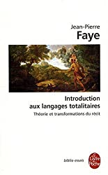 Introduction Aux Langages Totalitaires (Ldp Bib.Essais) (French Edition)