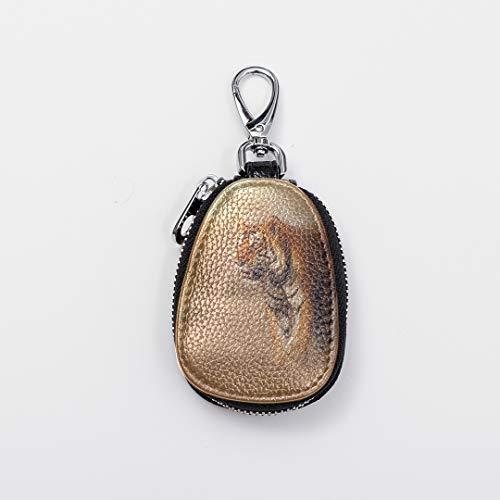 (Custom Key Ring Finger Cute Mini Key Ring Boy Great Tiger Male Nature Habitat Tiger Leather Girls Key Chain Fasion Zipper Key Chain Wallets For Women For Auto Car Remote Smart Key Universal)