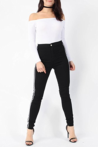 amp;Ayat skinny negro Fashions para Momo mujer blanco Vaqueros dtqRnwp