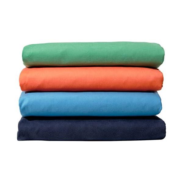 AmazonBasics - Asciugamano da bagno in microfibra, Microfibra, nero/blu, Bagno 3 spesavip