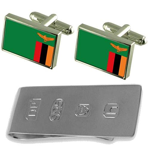 amp; Zambia James Flag Bond Cufflinks Clip Zambia Flag Money Ix4IqSZzw