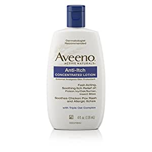 Aveeno Anti-Itch Concentrated Lotion Relieves Minor Skin Irritations, 4 Fl. Oz