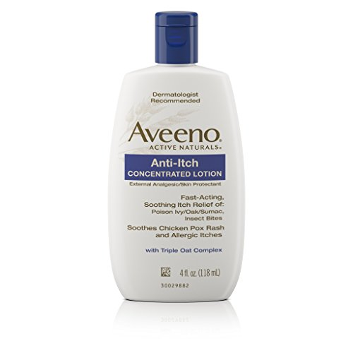 Aveeno Anti-Itch Concentrated Lotion Relieves Minor Skin Irritations, 4 Fl. Oz Pramoxine Anti Itch