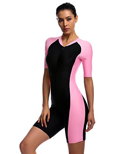 Swimsuit for Women New Fashion Design One Piece Short-sleeve surfing suit Sun Protection (Swimwear Sun Protection compare prices)