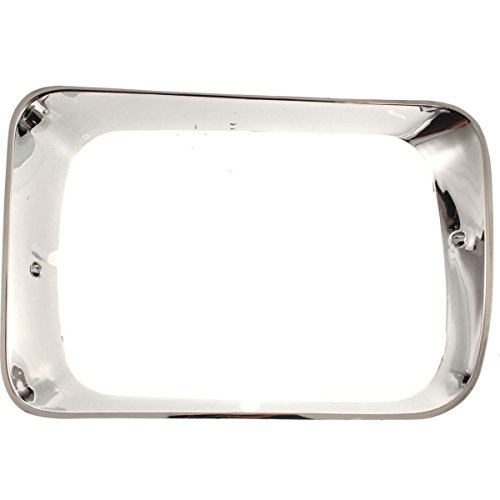 Trim Chrome Headlight Bezel Pickup (Diften 630-A0002-X01 - 92-93 Dodge D/W Pickup Truck Chrome Headlight Trim Bezel Pair Set)