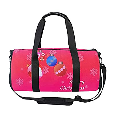 Holiday Christmas Foldable Small Duffle Bag Nylon for Sports Duffels Lightweight