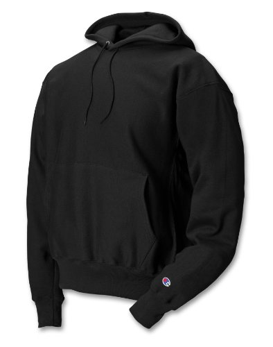 - Champion Men's Men' Reverse Weave Fleece Pullover Hoodie, Black, Large
