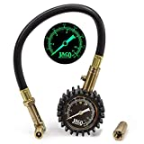 JACO BikePro Presta Tire Pressure Gauge 160 PSI - with Interchangeable Schrader Valve Air Chuck - for Hybrid & Road Bikes