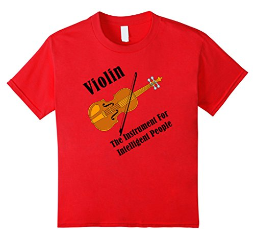 unisex-child Intelligent Violin Funny Stringed Musical Instrument T-Shirt 8 Red