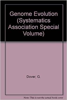 Book Genome Evolution (SYSTEMATICS ASSOCIATION SPECIAL VOLUME)