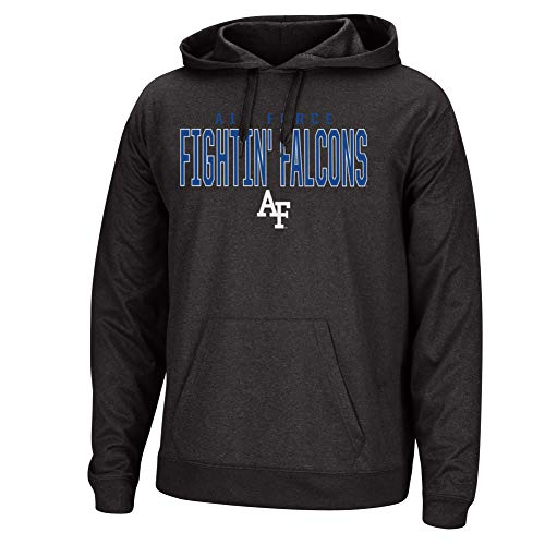 Top of the World NCAA Men's Air Force Falcons Dark Heathered Foundation Poly Hoodie Black Heather XX - Air Force Falcons Game