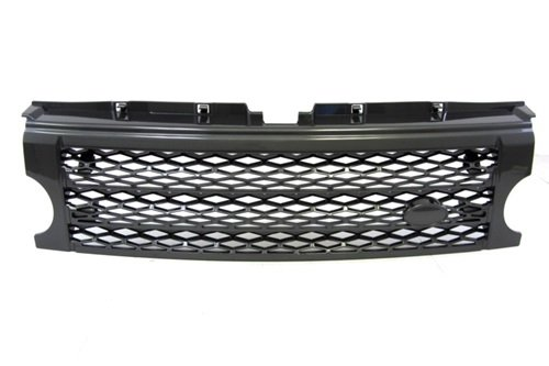 Sports Grille Kit (05-09 Land Rover LR3 Discovery 3 Front Mesh Sport Grille Grill Kit Dark Grey)