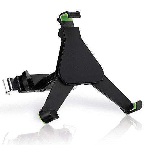 deleyCON HQ Universal Tablet Auto/KFZ Halterung für die Kopfstütze - von 8,9 bis 10,4 Zoll (nicht breiter als 245mm) - Winkel verstellbar für iPad / Galaxy Tab usw - mit & ohne Case nutzbar Schwarz