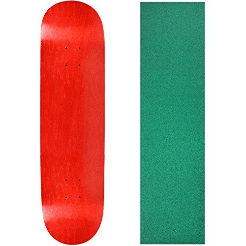 "UPC 742091192898, Skateboard Deck Blank Stained Red 8.25"" Dark Green Grip"