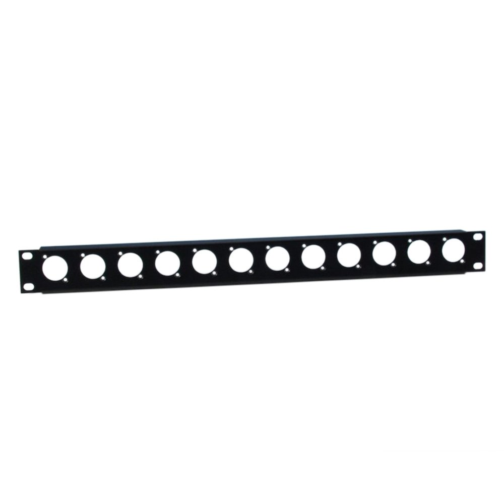 ah 19 Parts 872215 - Profilato rack, 1 U, in acciaio, con 12 vani per connettori XLR ah 19 Parts