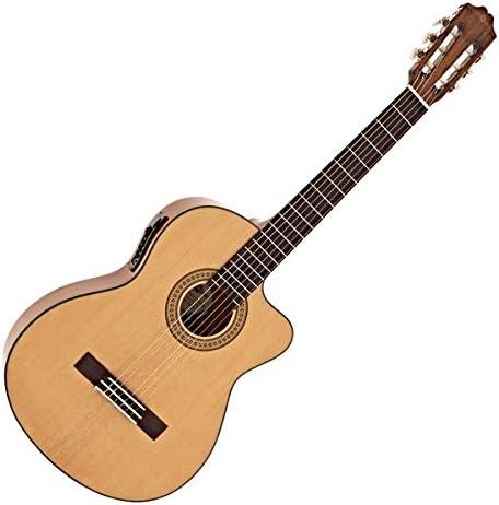 Guitarra Clasica Electroacustica Deluxe con Cutaway de Gear4music ...