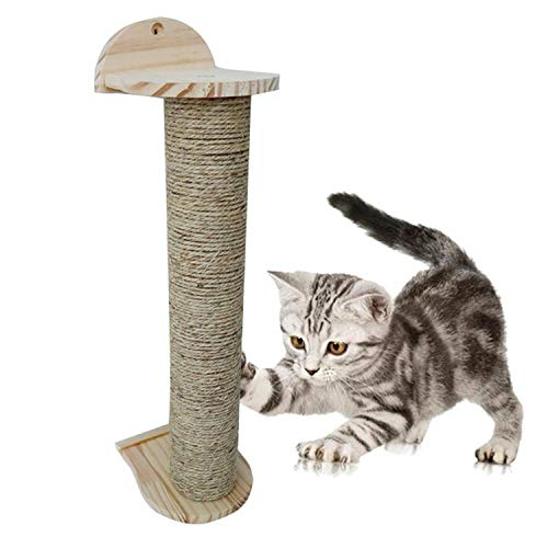 Jim-Hugh Cat Scratch Board Toy Sisal Kitten Climbing Scratching Tree Protecting Furniture Grind Claws Scratcher Toy