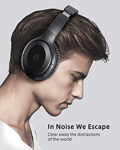 Active Noise Cancelling HeadphonesUtaxo Bluetooth Headphones Over Ear with Mic HiFi Sound Deep Bass