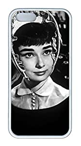 TPU White Color Soft Case For iPhone 5S Super Soft Ultra-thin Phone Case Suit iPhone5/5S Very Fine Workmanship Case Easy To Operate Audrey Hepburn 231