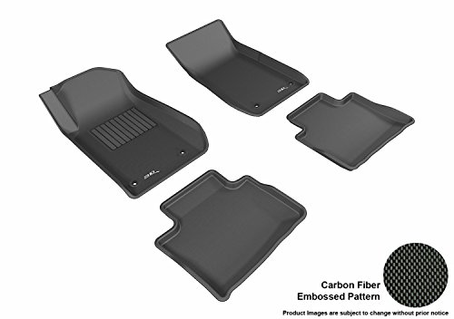 3D MAXpider Complete Set Custom Fit All-Weather Floor Mat for Select Chevrolet SS Models - Kagu Rubber (Black)