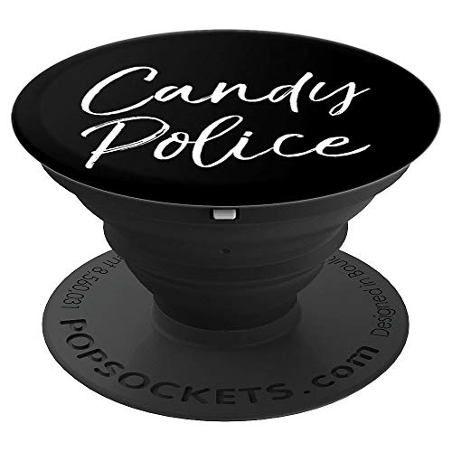 Funny Halloween Costume for Parents Joke Cute Candy Police PopSockets Grip and Stand for Phones and Tablets