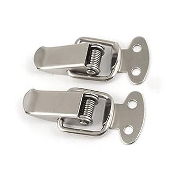eDealMax tono de la plata de la aleación de acero Flap Diseño del cerrojo del conector