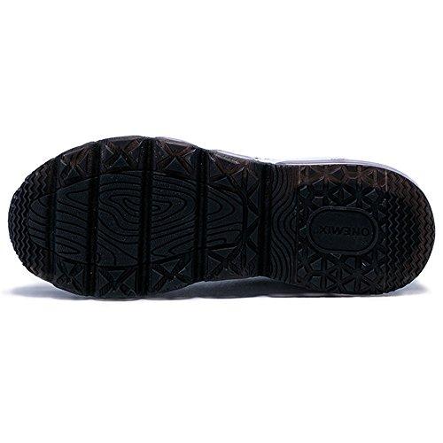 Onemix De Lucht Herenschoenen Vrouwen Lichtgewicht Loopschoenen Sportschoenen Met Luchtkussen Sneakers Mid-top Sneaker Unisex Volwassen Zwart-wit
