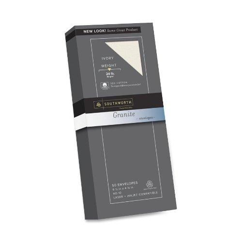 Southworth Fine Granite Envelopes, Size 10, Ivory, 50 Count (P934-10L/3/18) ()