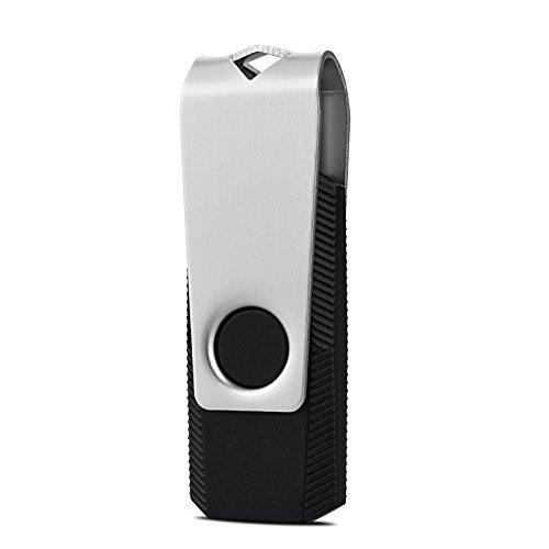 TOPESEL 100PCS 2GB Bulk USB 2.0 Flash Drive Swivel Memory Stick Thumb Drives Pen Drive (2G, 100 Pack, Black) by TOPESEL (Image #2)