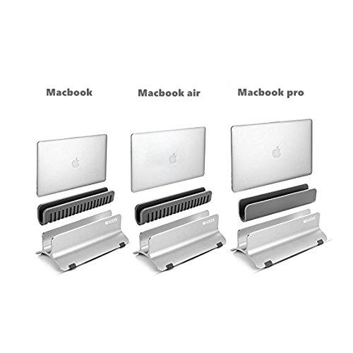 Vertical Laptop Stand, LOCA Aluminium Desktop Stand for Apple MacBook, notebooks (Silver) … Photo #8