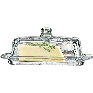 Home Essentials & Beyond 8965 Tablesetter Butter Dish with Knob