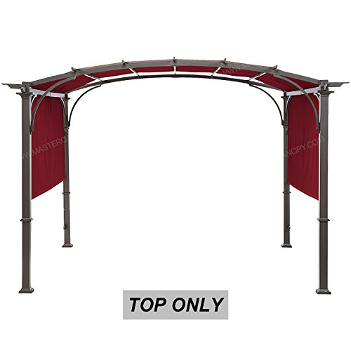 (MASTERCANOPY Universal Doubleton Steel Pergola Replacement Cover for Pergola Structures 80''x 205''burgundy(cover only)