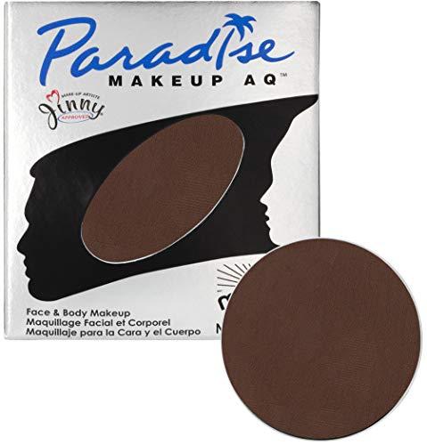 Mehron Makeup Paradise Makeup AQ Refill (.25 oz) (Dark Brown) ()