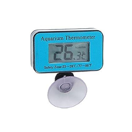 eDealMax Acuario Digital sumergible Jardin LCD Termómetro impermeable, Azul