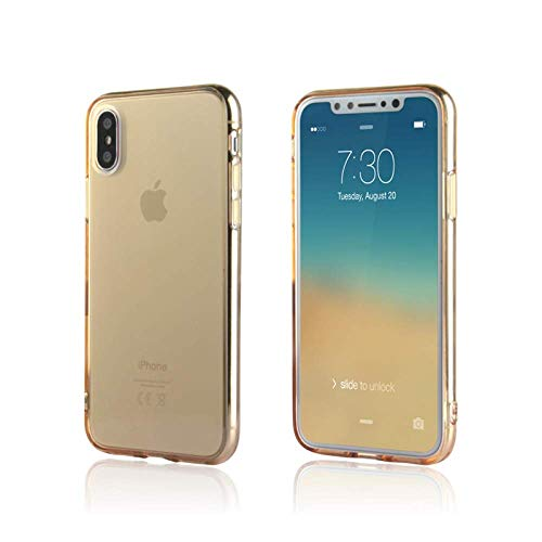 iPhone Xs & X Case/Slim & Soft Transparent Gold Tone Cover for iPhone Xs (2018) and X (2017) / Soft Flexible & Stylish Colors Compatible with All 5.8 inch X/XS Models (Gold, X/XS 5.8