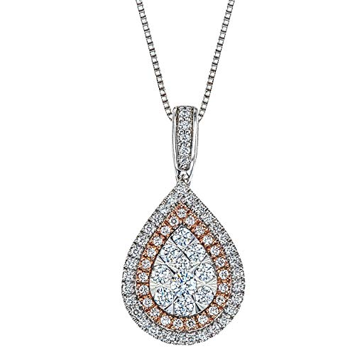 Diamond 1/2ct Pear Pendant in 14K White/Rose Gold ()