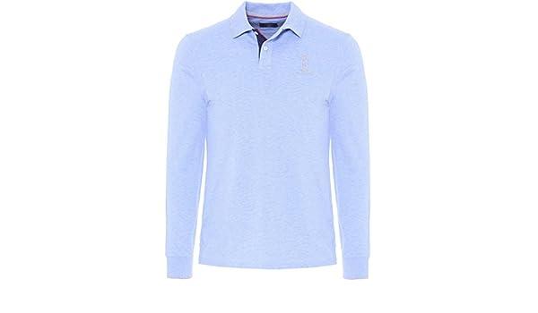 Hackett London STR CLLR Number Polo, Azul (Sky/Navy 5BA), S para ...