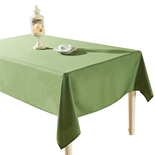 (YEMYHOM Spill-Proof Fabric Rectangle Tablecloth for Dining Room, Wedding and Party (60 x 104, Army Green))