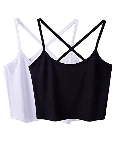 Micmall Cami Camisole Short Cross Spaghetti Strap Women's Tank Top - Cross Half