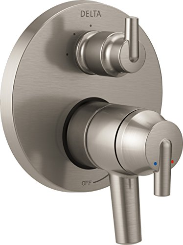 Ss Delta Faucet - Delta Faucet T27859-SS Trinsic Contemporary Monitor 17 Series Valve Trim with 3-Setting Integrated Diverter, Stainless,