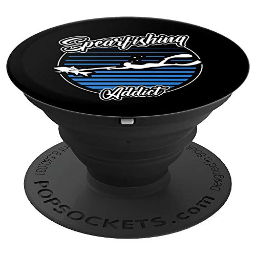 (Spearfishing Addict Underwater Freediving Fishing PopSockets Grip and Stand for Phones and Tablets )